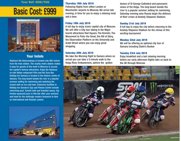 2019 SPEEDWAY OF NATIONS - Travel Plus World Speedway Tours
